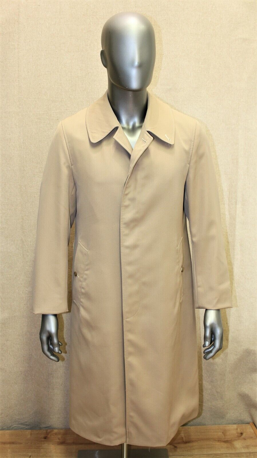 Trench imperméable burberry's vintage 70's raglan 46 long beige made in england