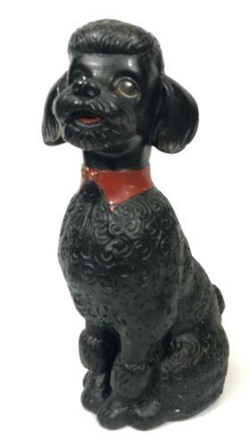 Vintage RARE Chalkware Poodle Dog Piggy Coin Bank Figurine Alexander Backer CO
