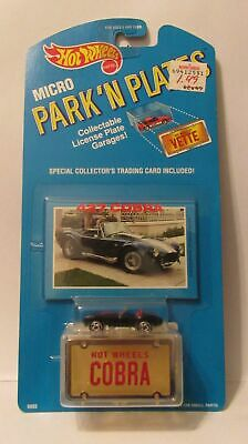 Hot Wheels Micro Park N Plates Diecast Metal NIP Black Ford 457 Cobra
