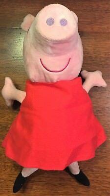 Peppa Pig 2003 Hug N Oink Talking Plush Giggles Soft Stuffed Toy Tested Works
