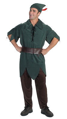 Peter Pan Adults Mens Tunic Costume Pants Belt And Hat Disney Halloween Disguise - Peter Pan Halloween Costumes Adults