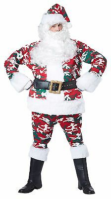 Camouflage Santa Claus Suit Adult Men Costume - Santa Costumes For Men