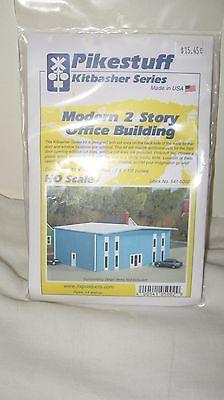 PIKESTUFF 5002 HO Modern 2 Story Office Building Model Train Kit FREE SHIP