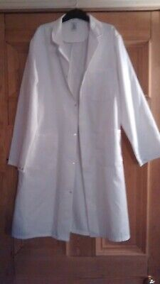 Unisex White Lab doctor dentist coat Alexandra size M excellent quality not thin