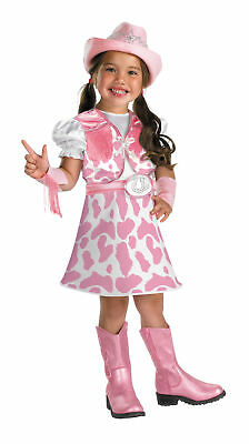 Wild West Cutie Child Costume Little Cowgirl Pink Halloween Fancy Dress Disguise - Little Girl Cowgirl Dresses