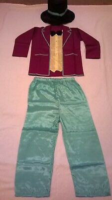 Roald Dahl's Willy Wonka Chocolate factory Children Costume for dressing up fun