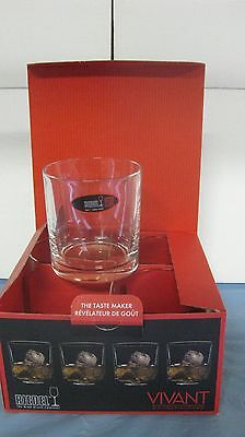 SET OF 4 RIEDEL VIVANT SERIES VERY RARE DOUBLE OLD FASHIONED MINT NEW IN BOX