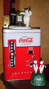 Coca Cola Drink Bottle Vending Machine Tin Amp 2 Coke ...