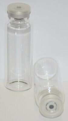 30 mL Tubular Clear Sterile Vial with Clear Plain Flip Off Seal 3 Pack