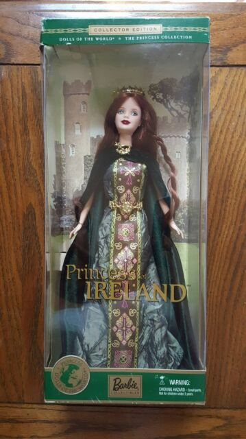 2001 Princess of Ireland Barbie Doll DOTW The Princess Collection #53367 NRFB
