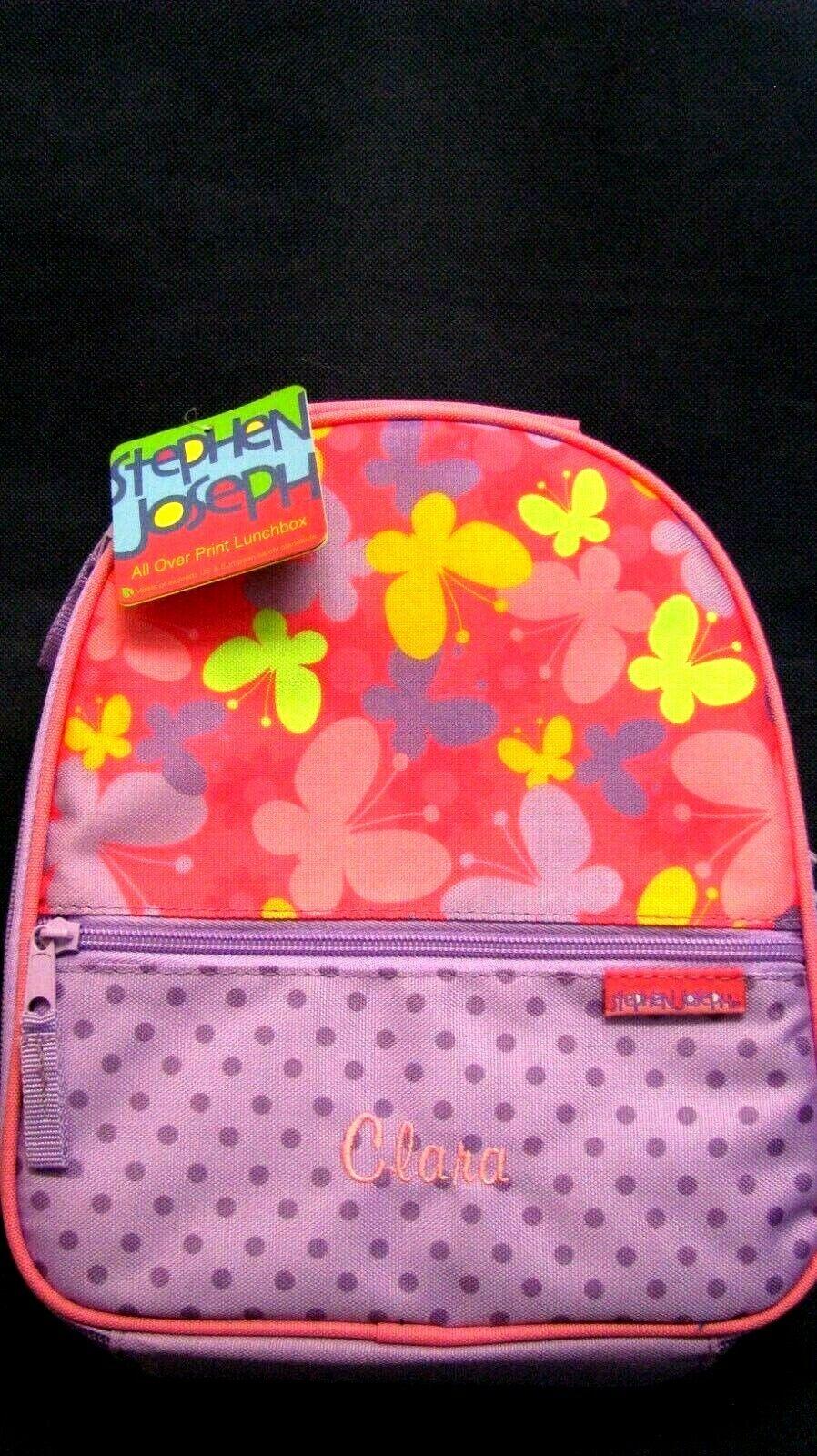 girls stephen joseph name clara lunch bag