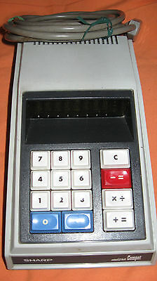 EUC EXTREMELY RARE VINTAGE SHARP MICRO COMPET QT-8D CALCULATOR 1ST OF IT'S KIND