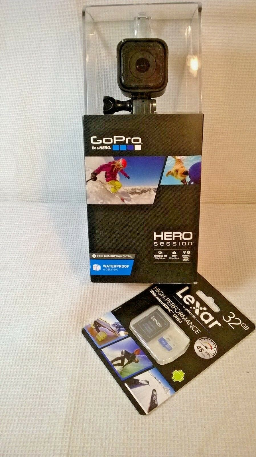 GoPro HERO Session Waterproof HD Action Camera, *Plus BONUS 32GB SD Card - NEW