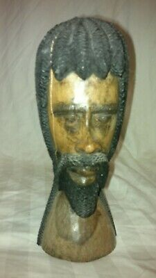 WOODEN FIGURE HEAD CARVED WOODEN FIGURE OLD WOODEN FIGURE GIFT IDEA
