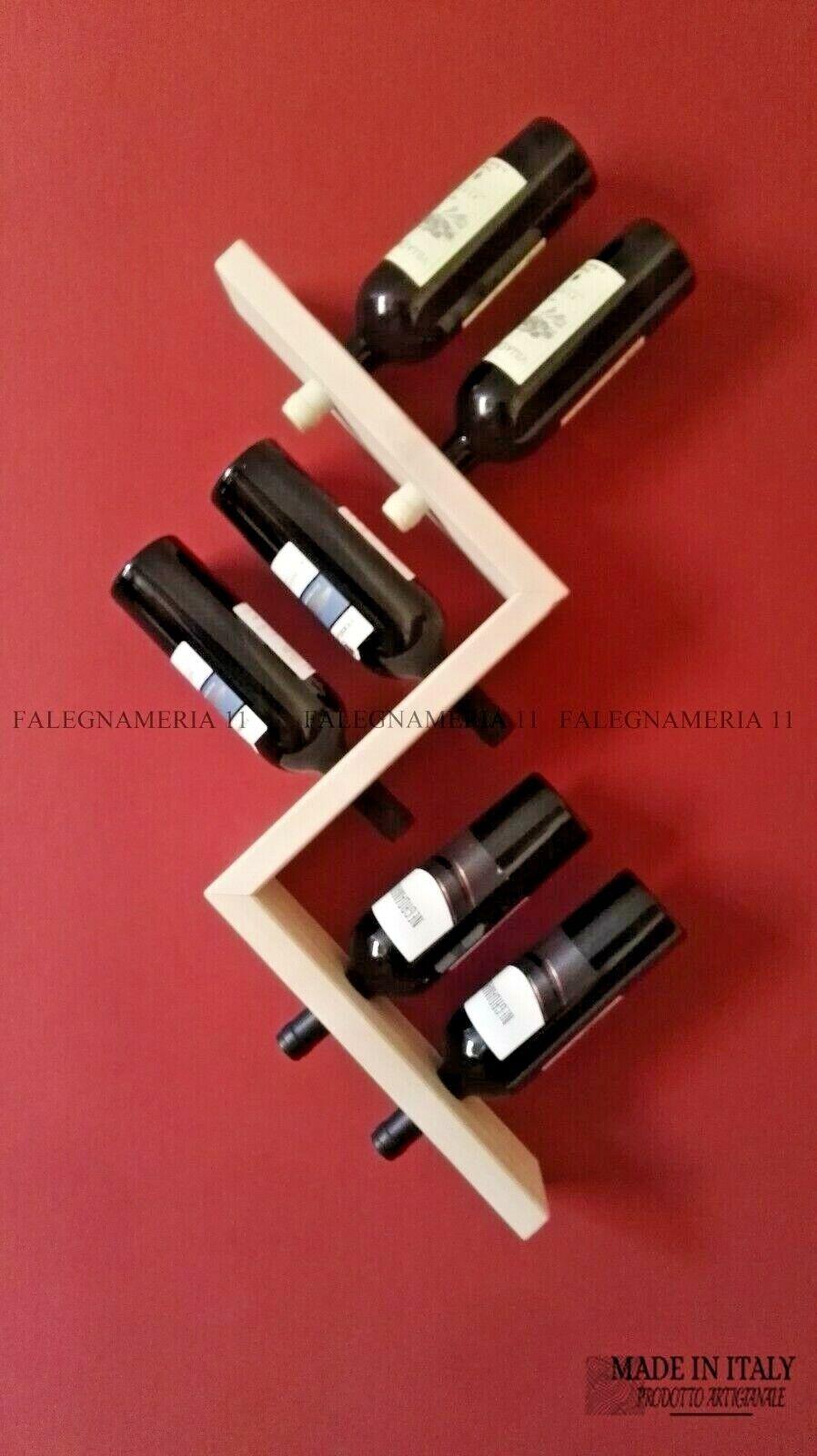 Cantinetta portabottiglie di vino in legno ABETE da parete muro porta bottiglie