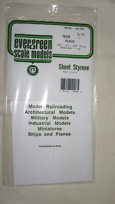 Evergreen Scale Models Sheet Styrene Plain Assortment Pkg. of 3 Item #9008