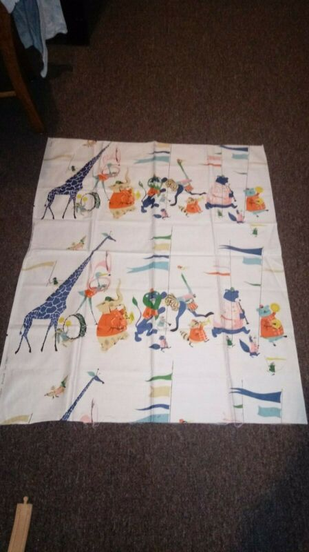 Vintage Circus Animal Fabric Everglaze