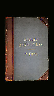 1861 Stieler's Hand Atlas on all Parts of the Earth 83 Maps by Justus Perthes