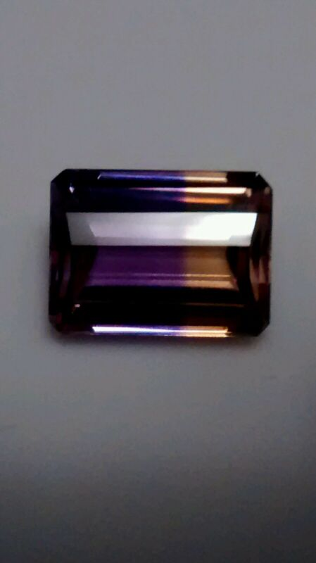11.5 ct Emerald cut BOLIVIAN AMETRINE