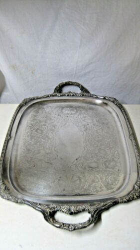 "HERITAGE 1847 ROGERS BROS HUGE 33"" x 19""  Heavy Silver plated Tray"