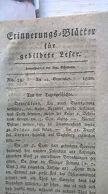 1820 39 Sonnenfinsternis 7.9.1820 / Revolution Portugal Italien /Schlachter Tote