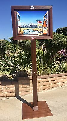 "Coors Banquet Beer Bar Big Wood  Poster Sign ""New"" Colorado Mountains Mirror"