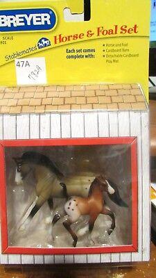 #5921 Breyer Stablemate Horses Cantering Appaloosa Warmblood & Trotting Foal NIB
