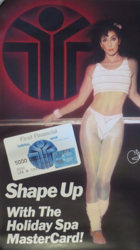 "Cher-Shape Up with the Holiday Spa-MasterCard Promo Poster/Photo-19"" x 30"" 1988"