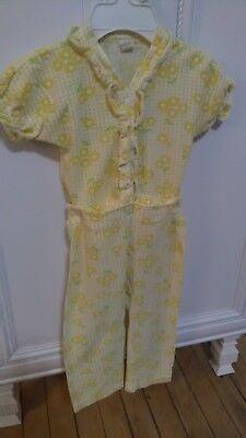 Snap Waist Pajamas ( Vintage Girl Child Infant Pajamas  - EUC - 1970's Snap around the waiste)