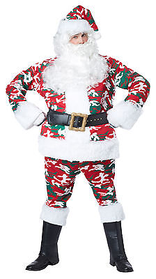 Adult Camo Santa Suit Christmas Costume  - Camo Santa Suit