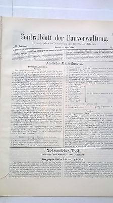 1889 15 Zürich Physikalisches Institut New York Haus Langmann Suez Kanal Renfrew