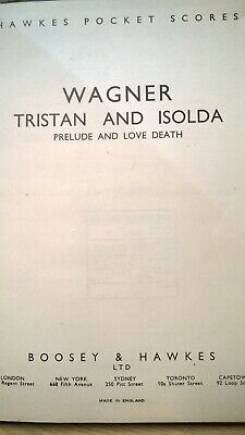 Wagtner : Tristan And Isolda (Prelude And Love Death) : Pocket Music Score