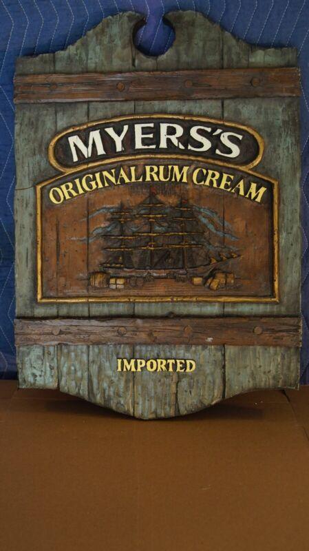 Myers's Original Rum Cream 28x16in Advertising Sign