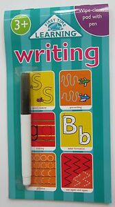 Pre school learn to write wipe clean children educational book 3 4 pen ABC game