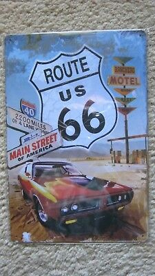 Wall Decor Garage Poster Metal tin SIGN ( ROUTE US 66 MAIN STREET of America)