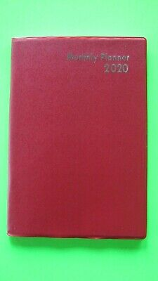 2020 Planner Red 1 Year Monthly Calendar Agenda Appointment Purse Organizer New
