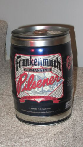 Frankenmuth 5 liter gallon beer can mini keg