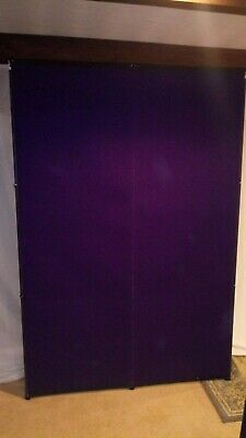 Nomadic Plus Frame 2x3 Quad Purple Fabric Used Pop Up Display Exhibit Trade Show