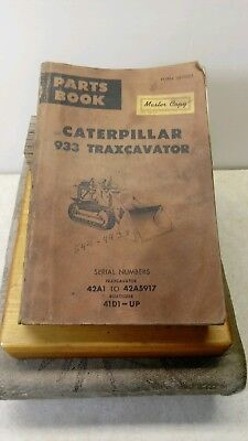Caterpillar 933 Traxcavator Parts Book 42a1 To 42a5917 Dozer 41d1-up