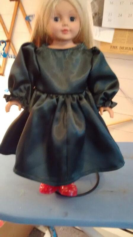18 Inch Doll Clothes Handmade**Hunter Satin *Dress