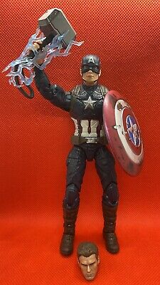 Marvel Legends Worthy Captain America Walmart Power Glory Endgame Custom Extras