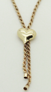 9ct Gold Twist Chain with Heart Mandurah Mandurah Area Preview
