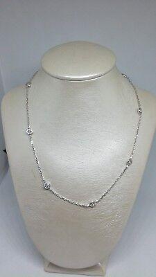Collana girocollo donna argento rodiato con zirconi cm 40 novità del momento