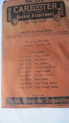 N.O.S.Studebaker Champion 1941 Carb Gasket Kit