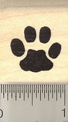 Cat Paw Print Rubber Stamp A3906 WM - Paw Print Stamp