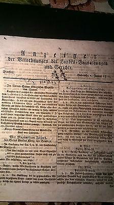 1811  Anzeiger 6 / Gaststätte Jude Obernbreit Leopoldsgrün  Prackenhof Kulmbach