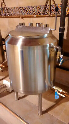 Custom Stainless Steel Jacketed Brew Kettle