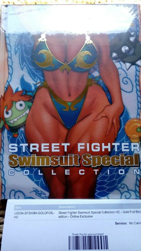 Street Fighter Swimsuit Special Udon Online Gold Bikini Exclusive Brand New, 250