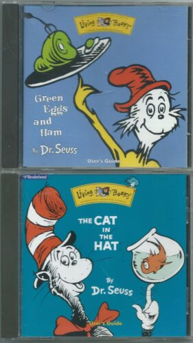 The Cat in the Hat CD-ROM (1997) Broderbund Living Books & Green Eggs And Ham