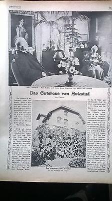 1910 9 Brüssel Weltausstellung / Aulestad Norwegen / Kurort Weißer Hirsch